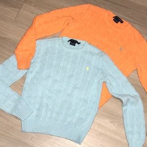 Cotton Cable Knit Sweaters by Ralph Lauren